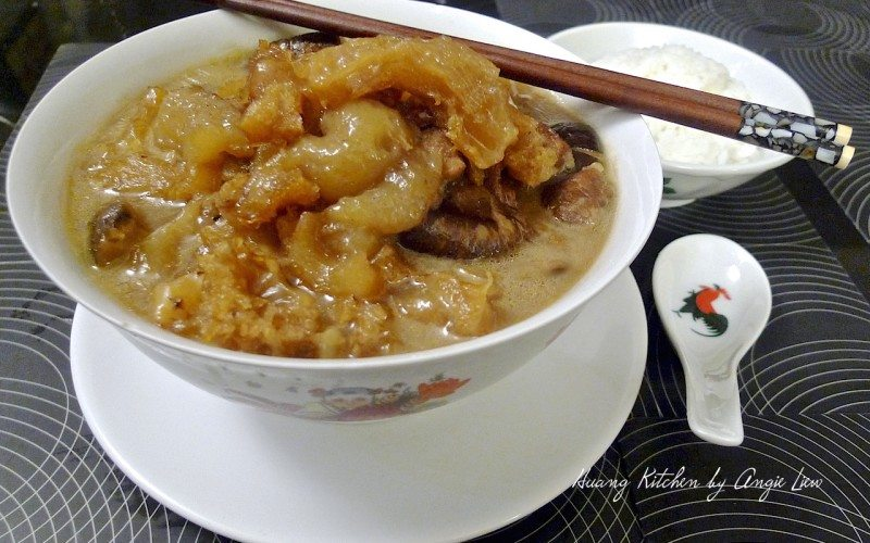 BRAISED SEA CUCUMBER WITH FISH MAW